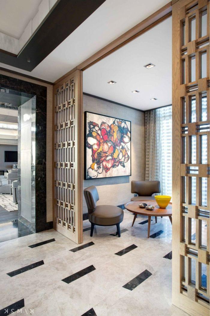 die besten 25 trennwand holz ideen auf pinterest raumteiler regale raumteiler und regale und. Black Bedroom Furniture Sets. Home Design Ideas