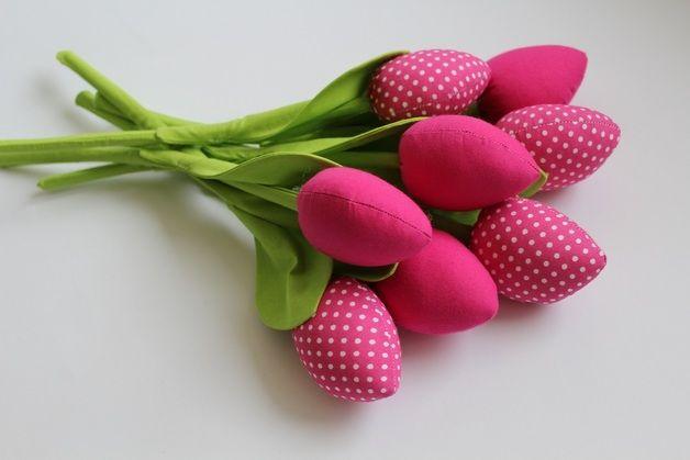 Bukiet uroczych tulipanów. Dzień Kobiet - bawelnianyraj - Pozostałe