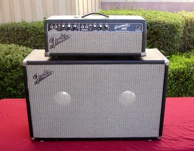 1967 FENDER BASSMAN BLACKFACE AMP HEAD AB165 and FENDER SPEAKER CABINET COMBO !!