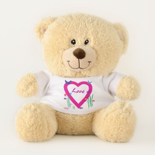 Spring Heart Love Valentine Teddy Bear