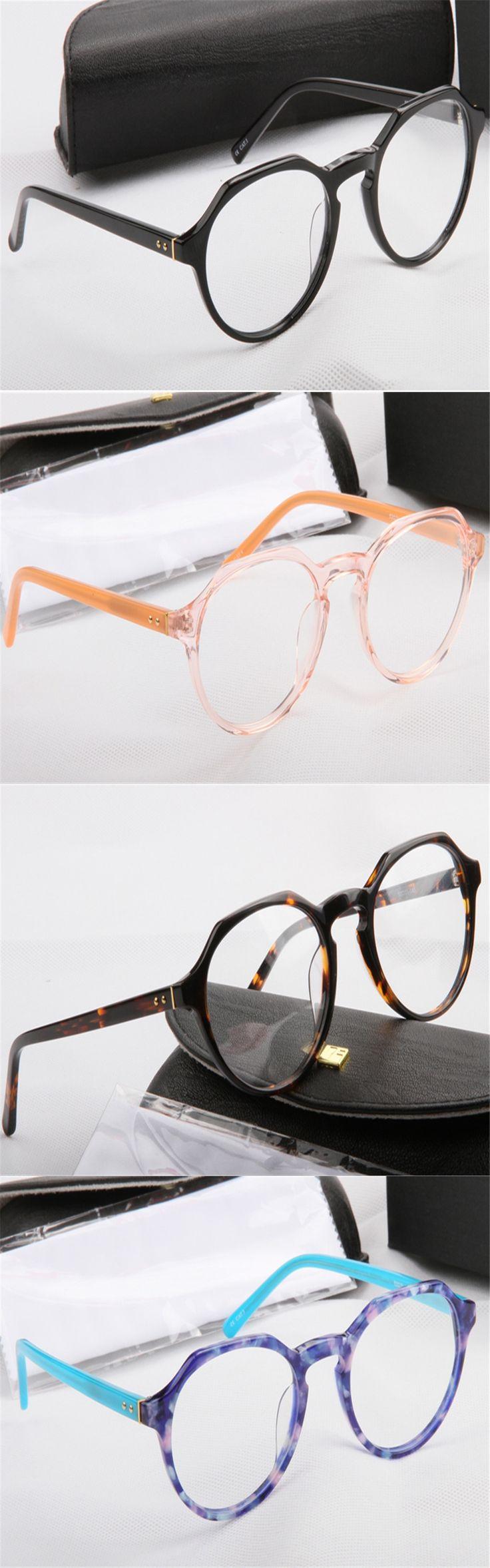 DOWER ME Vintage Fashion Unisex Full Rim Acetate Round Frame Myopia Optical Eyewear Vision protection Eyeglass
