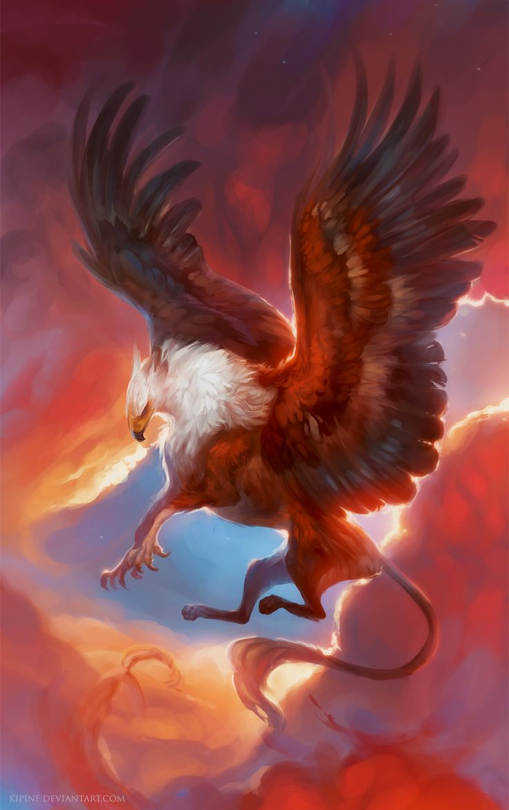 Bringer of the Sun by Kipine griffon eagle lion hybrid monster beast creature animal | Create your own roleplaying game material w/ RPG Bard: www.rpgbard.com | Writing inspiration for Dungeons and Dragons DND D&D Pathfinder PFRPG Warhammer 40k Star Wars Shadowrun Call of Cthulhu Lord of the Rings LoTR + d20 fantasy science fiction scifi horror design | Not Trusty Sword art: click artwork for source