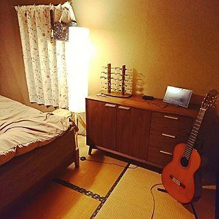和室×6畳×たたみのまとめページ | RoomClip (ルームクリップ) Overview/寝室/和室/ギター/キャビネット/間接照明/メガネ/ニトリ