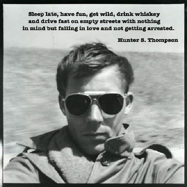 Hunter S Thompson Music Quote: Hunter S. Thompson