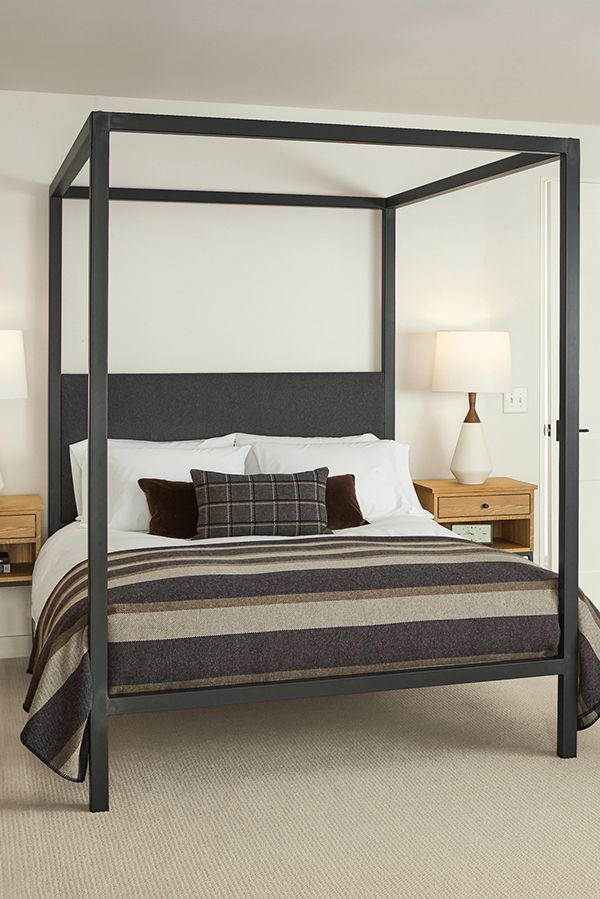 Architecture Bed With Fabric Headboard Modern Contemporary