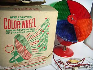 1960 S Gem Electric Color Wheel Christmas Tree Floor Light For