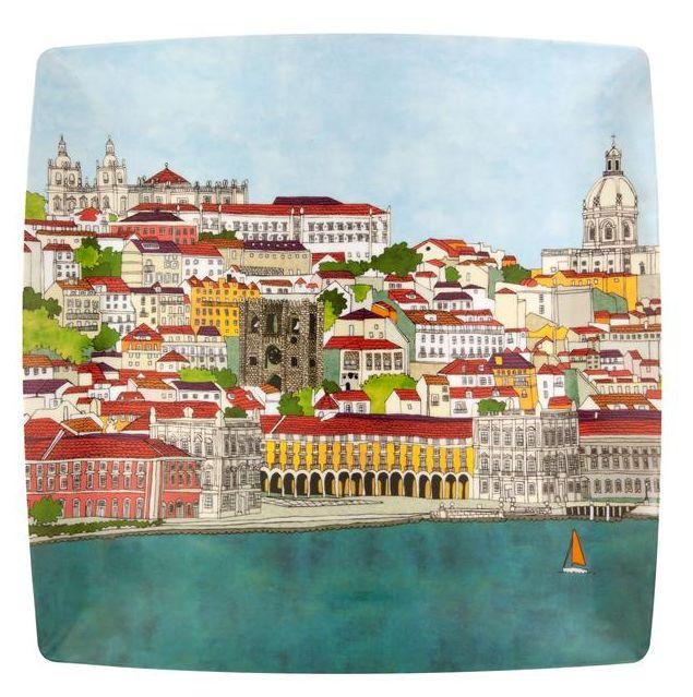 beatriz lamanna: vista alegre | pratos: vista alegre atlantis projeto: louças, coleção Alma de Lisboa prato retangular e marcador ano: 2011