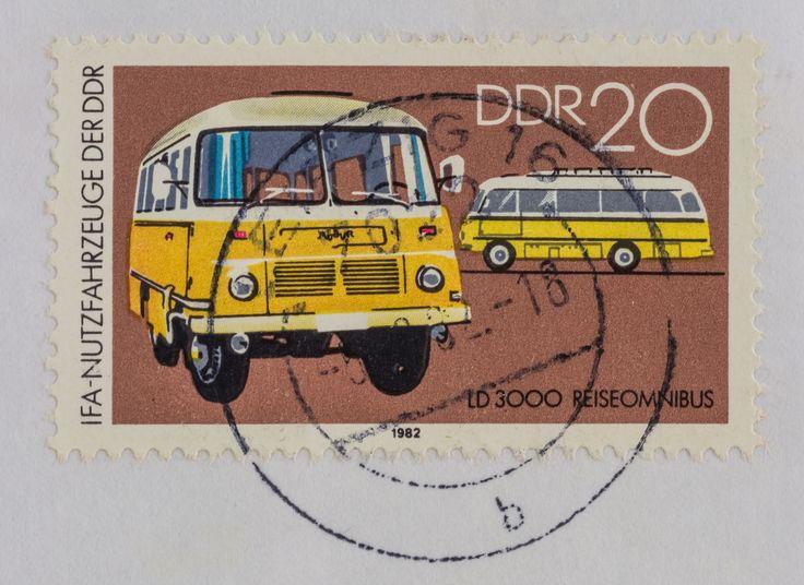 """DDR Museum - Museum: Objektdatenbank - """"Robur Briefmarke"""" Copyright: DDR Museum, Berlin. Eine kommerzielle Nutzung des Bildes ist nicht erlaubt, but feel free to repin it!"""