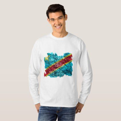 Congo (Kinshasa) Vintage Flag T-Shirt  $25.65  by Soulrider  - cyo customize personalize unique diy idea
