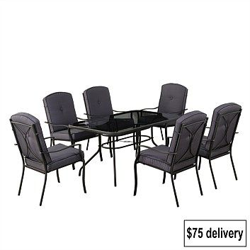 Briscoes - Futura 7Pce Steel Outdoor Furniture Setting