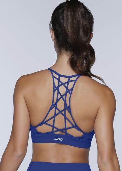 b0f582045b Unified Yoga Bra - The prettiest blue yoga bra you ll ever see ...