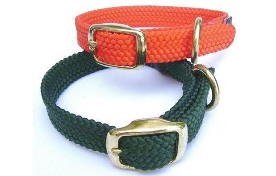 Hundehalsbånd Double Braid Junior i messing Passer perfekt til alle hvalpe og små hunderacer.