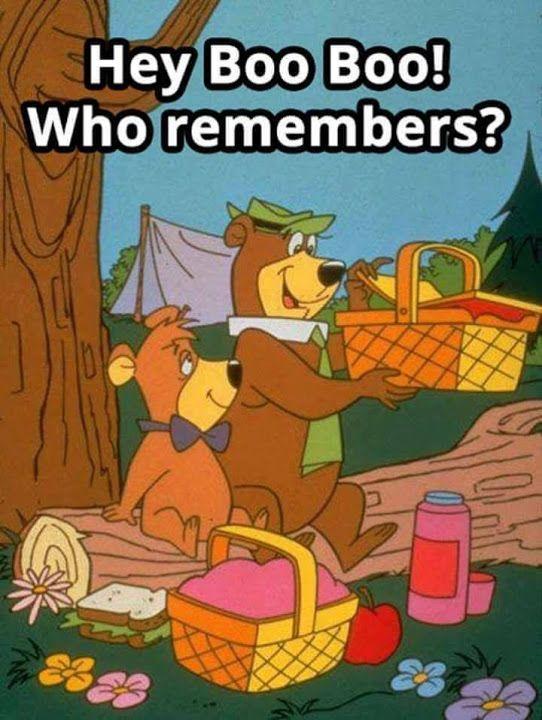 Yogi Bear and his sidekick Boo Boo - When TV cartoons were great.