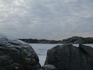 Icy winter walk in Sweden