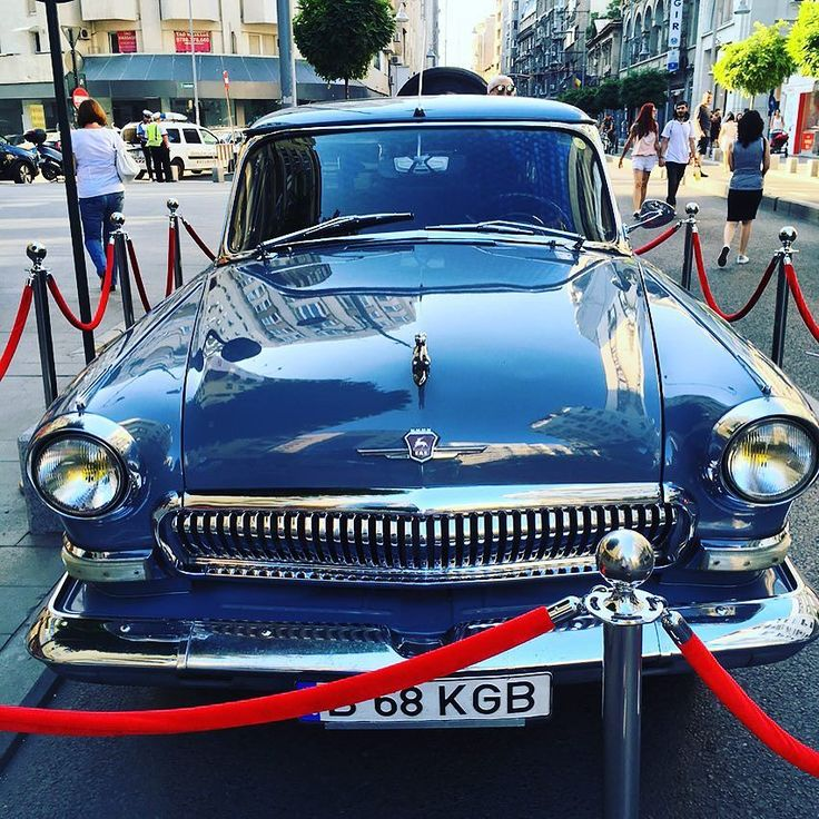 Glossy Blue Volga Car  #volga #russian #cars #blue #bucharest #citywalk