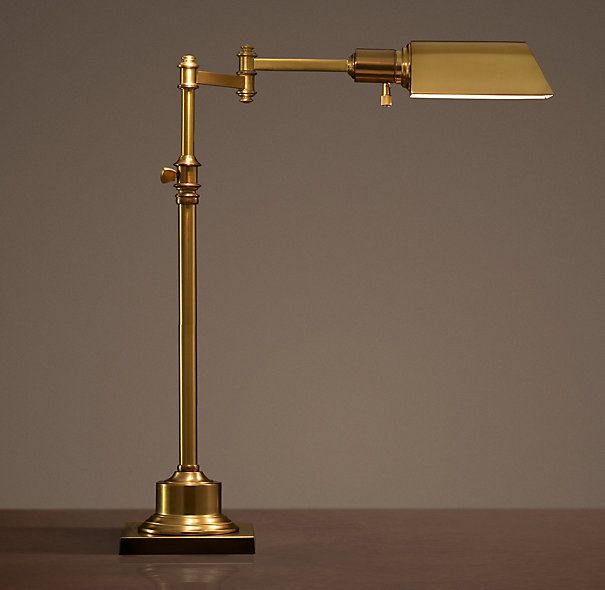 Restoration hardware library task table lamp in antique - Restoration hardware lamps table ...