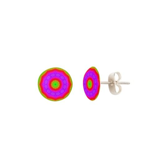 Happy Colors Stud Earrings by www.zazzle.com/htgraphicdesigner* #zazzle #gift #giftidea #stud #earrings #abstract