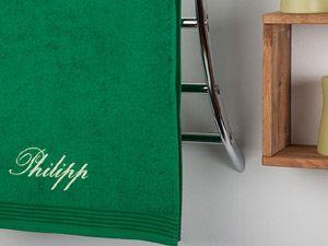 bestickte Handtücher mit Namen