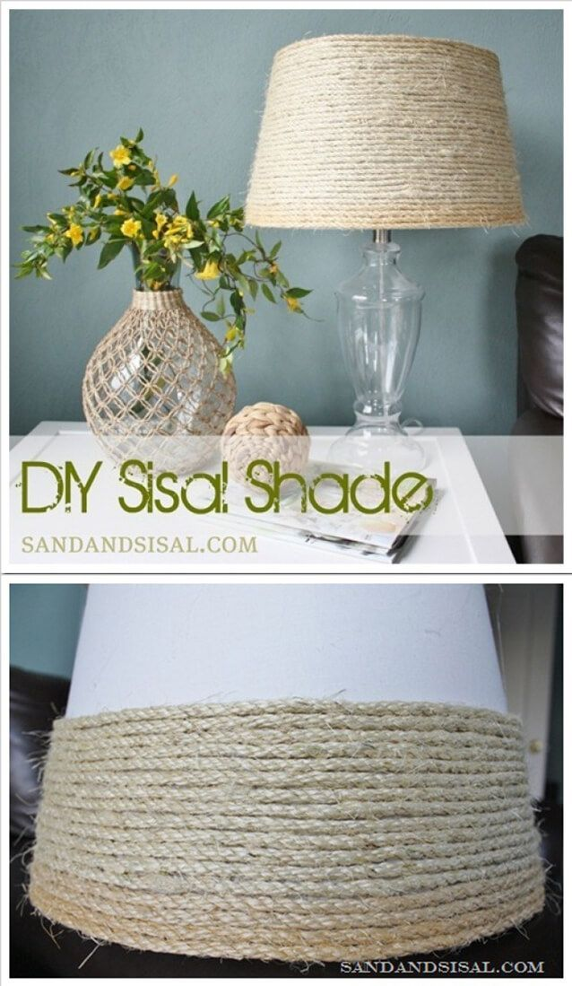 Easy Twine-y Textured Lampshade