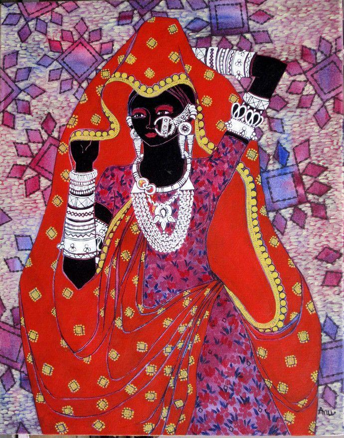 Anuradha Thakur Serene harmony 19 24''x30'' %2812%29