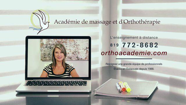 Cours interactif a distance offert à l'Académie de Massage et d'Orthothérapie depuis 2004