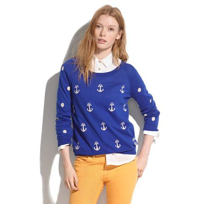 MADEWELL anchors & dots sweater - $80