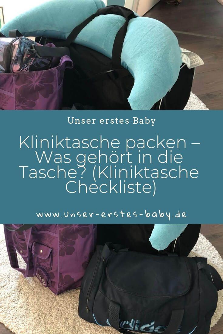 Kliniktasche packen – Was gehört in die Tasche (Kliniktasche Checkliste) – Unser erstes Baby