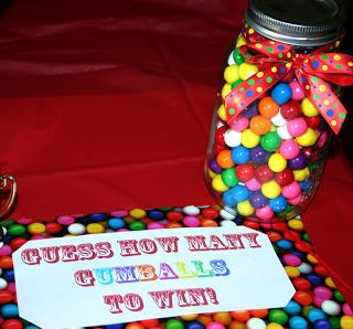 I know it's juvenile,  but might do this at Faith's party for fun.  Just set it on the kitchen counter and see who wins...