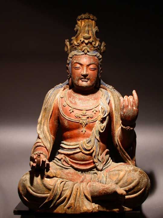 Painted Wooden Sculpture of the Bodhisattva Guanyin - X.0705       Origin: China          Circa: 15  th  Century AD  ...