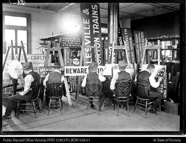 SIGN WRITERS AT WORK - Public Record Office Victoria