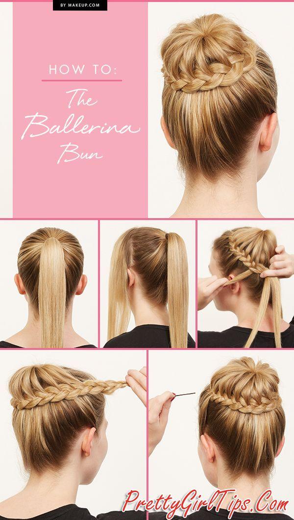@prettygirltips Beautiful Ballerina Bun Hairstyle Tutorial