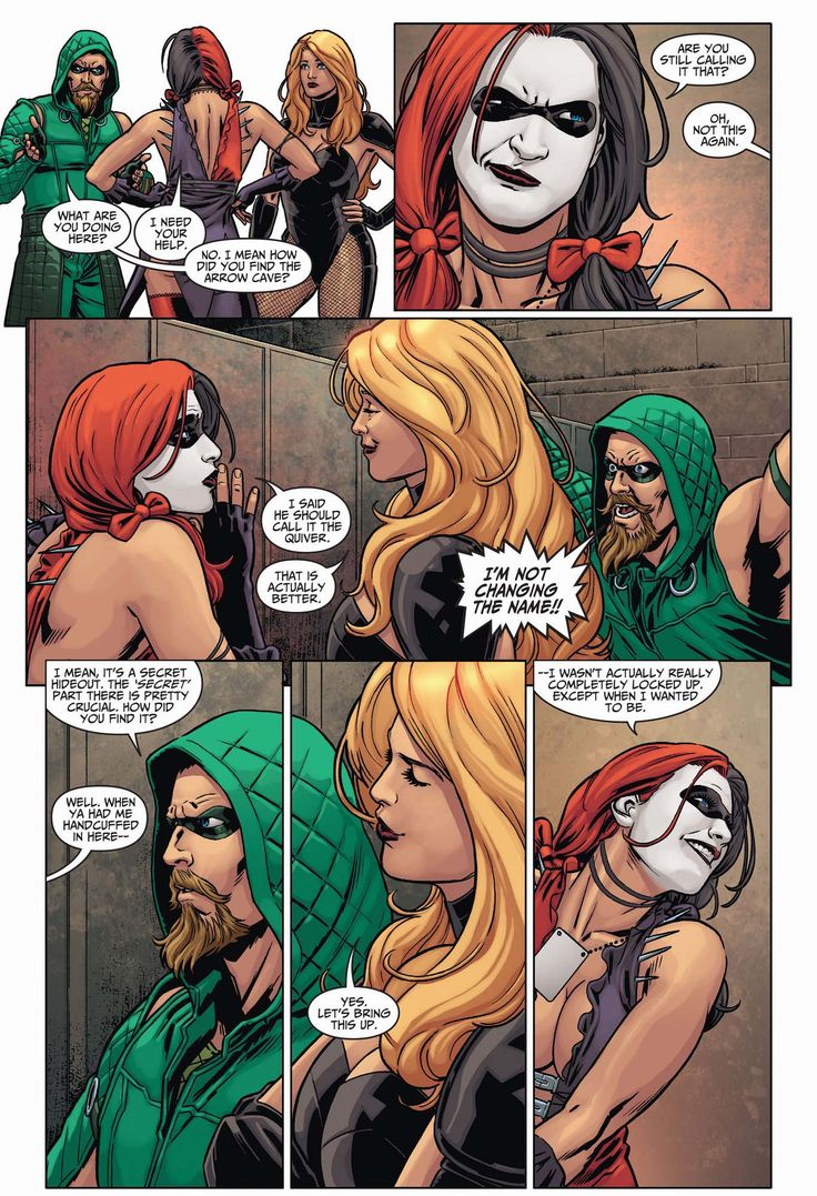 Harley Quinn Back In The Arrow Cave 1