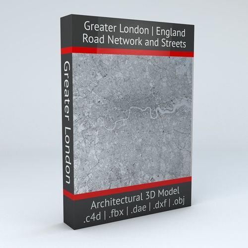 Greater London Road Network and Streets | 3D Model