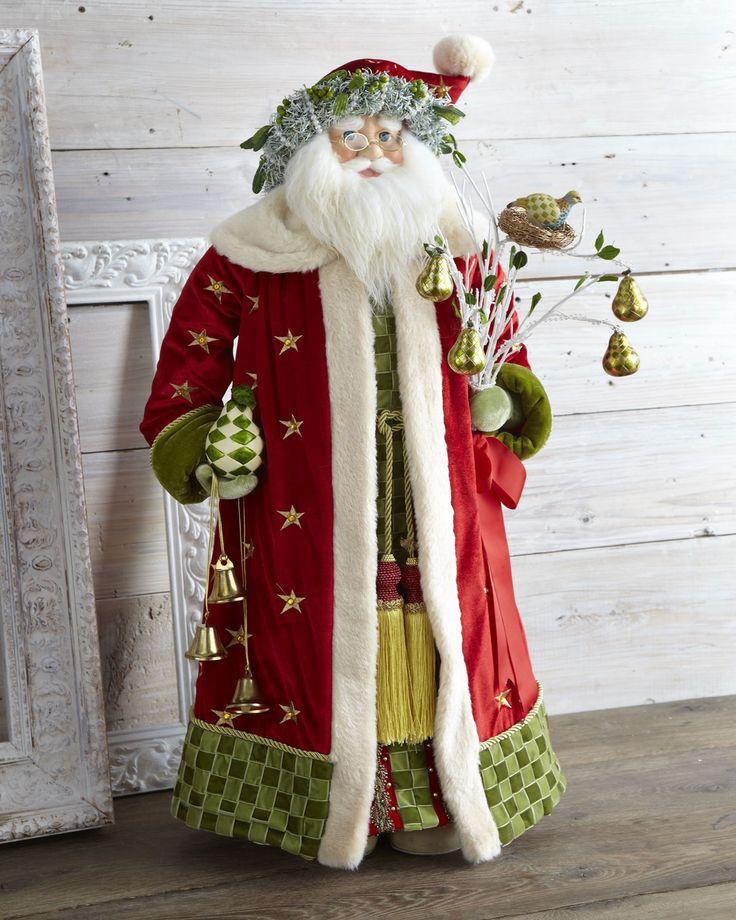 MacKenzie-Childs Red Noel Santa - Neiman Marcus