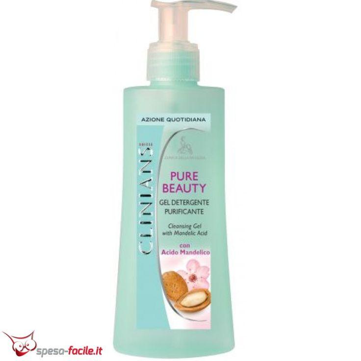 € 4,39  CLINIANS GEL PURE BEAUTY. Gel Detergente Purificante deterge il viso in modo mirato ed efficace, eliminando le impurità e le tracce di trucco per una pulizia profonda, lasciando la pelle fresca e detersa