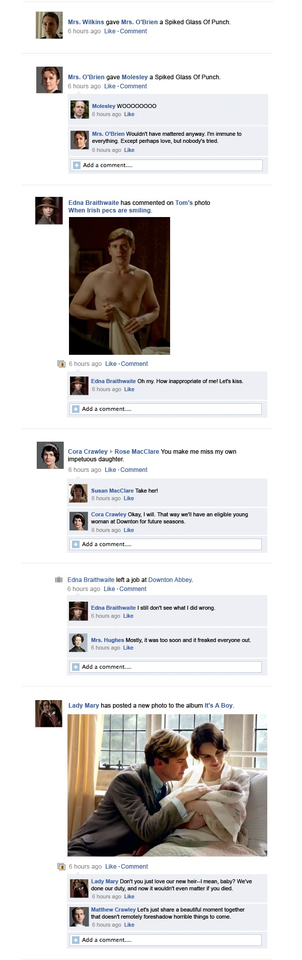 Downton Abbey Facebook Recap Season 3 Episode 7 | Happy Place