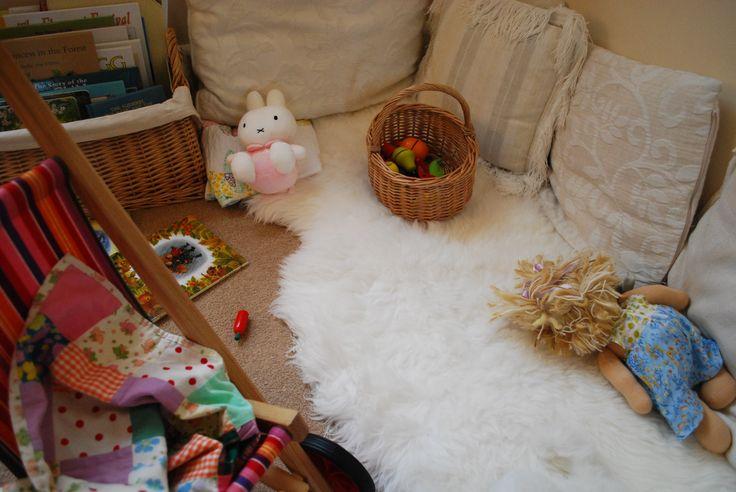 cozy reading/play corner
