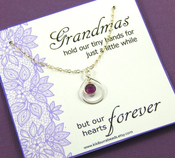 Grandmother Necklace Grandmothers Necklace Gift by Kikiburrabeads