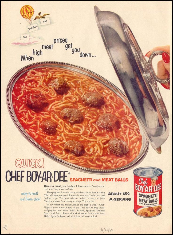 If you were born in 1953, there was a lot of canned spaghetti around. A company had been commissioned to make it for military rations in WWII - after the war the company went into more commercial production, helping their work force keep their war time jobs - by the early 50s Chef Boyardee and Campbell's Franco-American were really popular convenience food in the US -- but there were no SpaghettiOs yet - those didn't come until 1965!!!