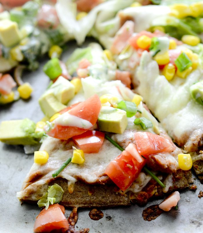 Skinny Taco Pizza with Corn, Avocado, and Tomatoes – Recipe Diaries