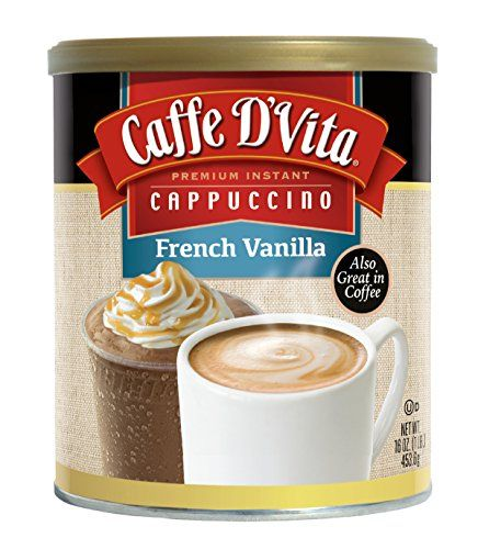 Caffe D'Vita French Vanilla Cappuccino, 16 Ounce Cans (Pack of 6) *** Check this useful article by going to the link at the image.