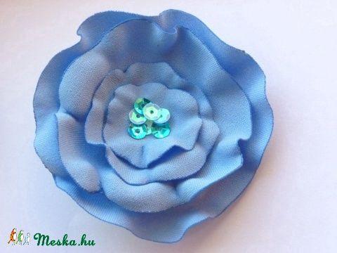 Meska - Kék bross Akció! pannika kézművestől