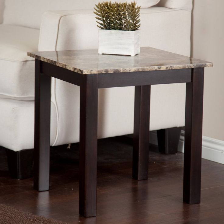 Palazzo Faux Marble End Table - End Tables at Hayneedle