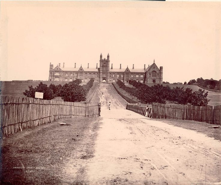 Sydney University, 1870 - The Sydney University was an amazing building, it was 400ft long (120m) and 130ft tall (40m). It was the largest sandstone structure at the time in Sydney.