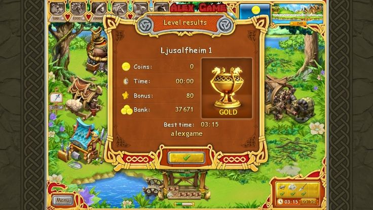 Farm Frenzy Viking Heroes Adventure Ljusalfheim 1 GOLD Веселая ферма Викинги Сюжетная Льесальвхейм 1