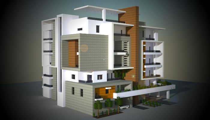 A Medium Block Of Modern Apartments I Made In My Minecraft City. Download:  Http://www.minecraft Schematics.com/schematic/6246/ | Pinterest | Minecraft  City, ...