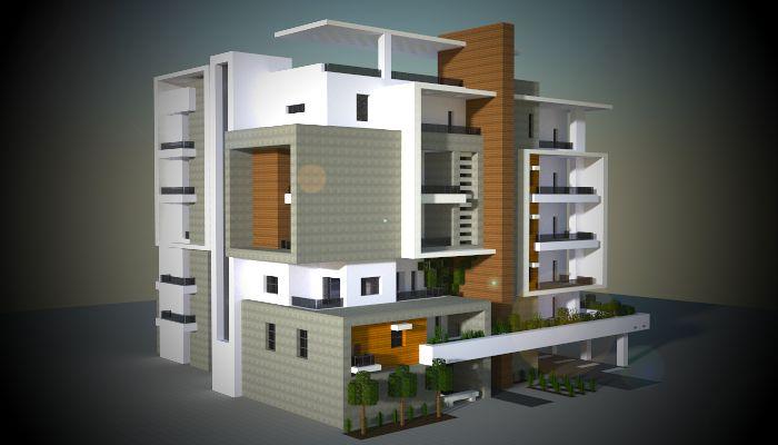 A medium block of modern apartments i made in my minecraft city.  Download: http://www.minecraft-schematics.com/schematic/6246/