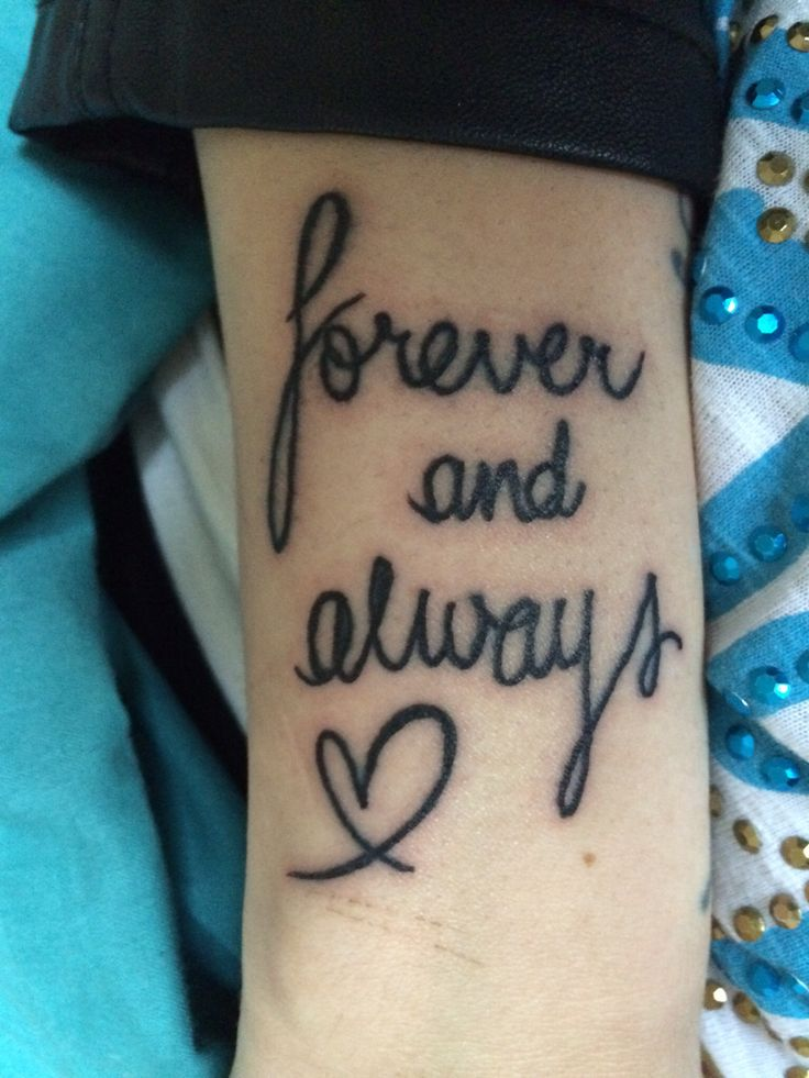 forever and always tattoo tattoos piercings pinterest tattoo piercings and tatting. Black Bedroom Furniture Sets. Home Design Ideas
