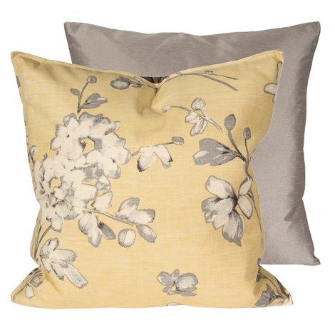 Soft Yellow and Grey Pillow