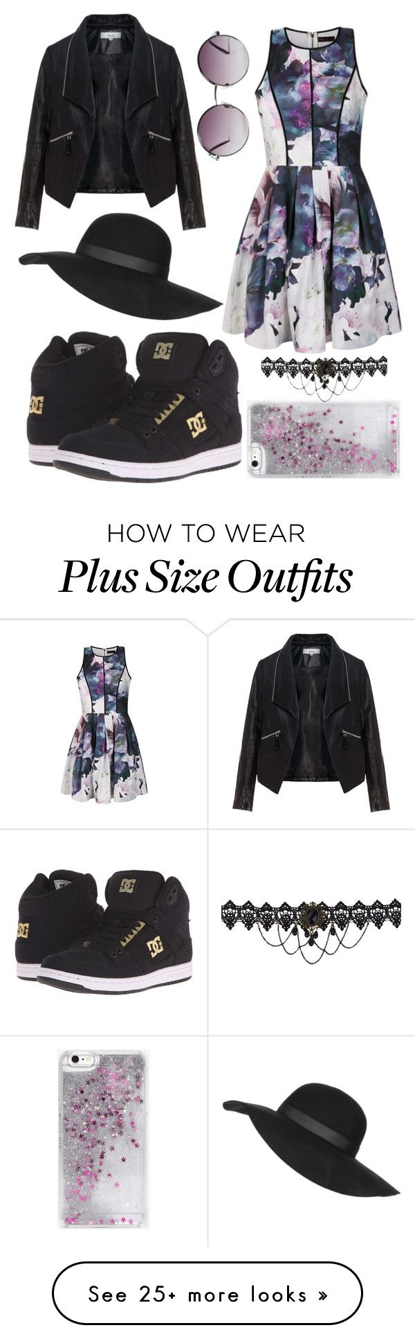 """Street style 2016"" by pavetra22 on Polyvore featuring DC Shoes, Ally Fashion, Zizzi, Topshop, Monki and Skinnydip"
